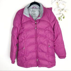 L.L. BEAN Quilted Puffer Coat LL Hooded Jacket XS